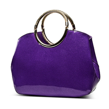 Fashion Women patent Leather Handbag shell Bag Candy Color Bolso Top-Handle Tote 33*18*10cm