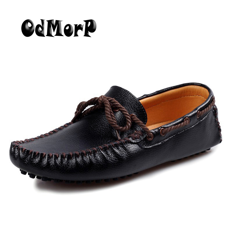 ODMORP Men Leather Loafers Shoes Black Moccasins Classice Solid Slip On Dress Shoes For Men Soft Comfortable Driving Shoes fashion hair accessories simulation synthetic hair plaited headband elastic hair band braided headwear hair scrunchy headband