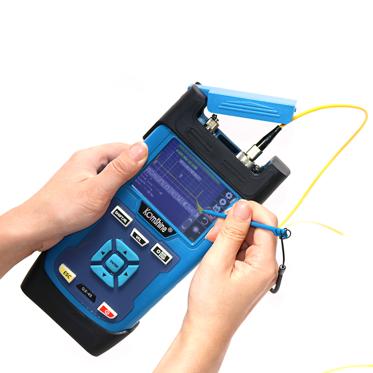 Dual Wavelengths 1310/1550nm OTDR Singlemode QX45 Easy Carrying Portable OTDR Tester/ Optical Time Domain Reflectometer