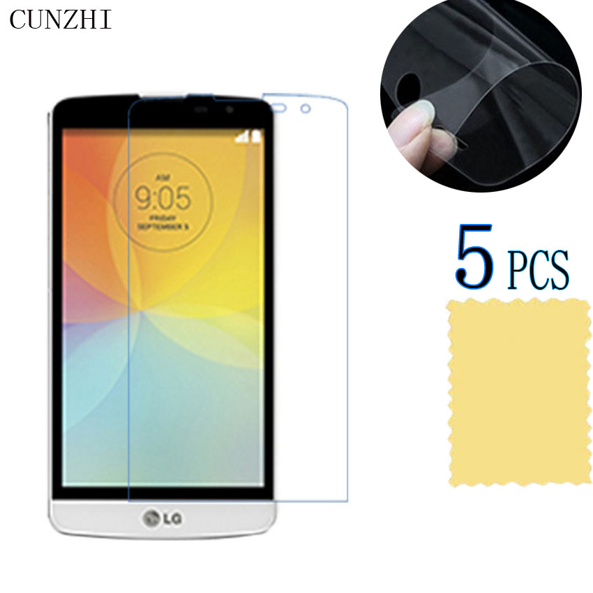 5pcs HD Clear Ultra Slim Front Screen Protector Display Protective Film For LG L Bello / D335