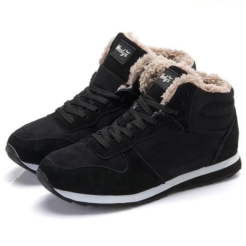 Men Boots Shoes Men Snow Boots Mans footwear Men Winter s Shoes Fur zapatos hombre New