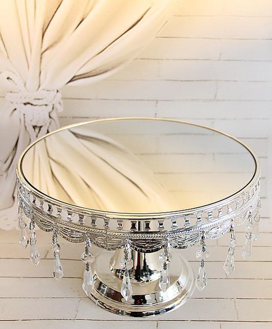 Doprava zdarma vysoce kvalitní stříbrný dort stojan / ovoce talíř dekorace svatební svatební dárek Domácí nábytek / snack zásobník