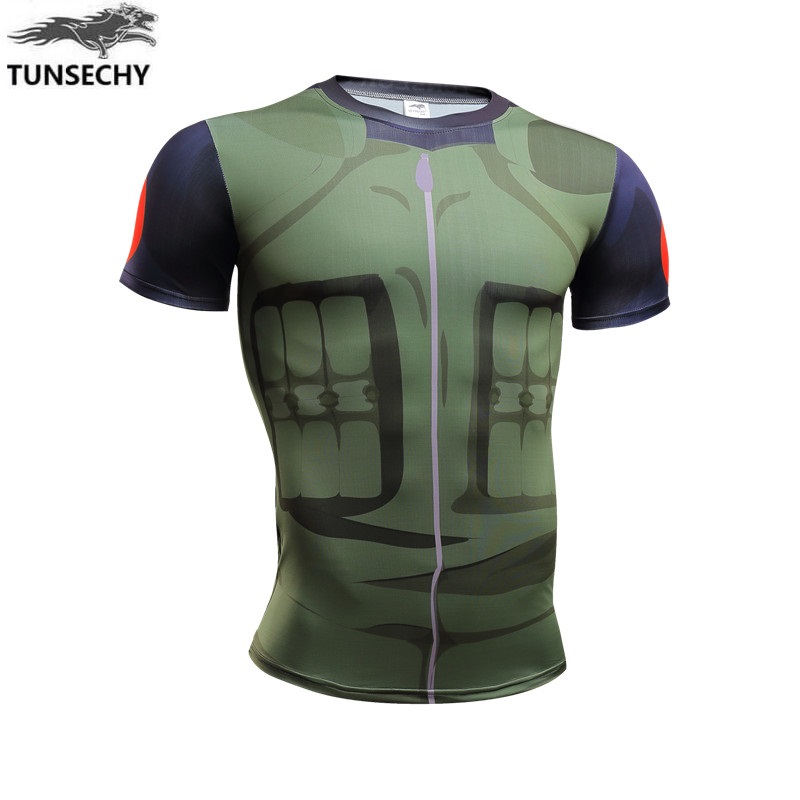 """2017 original brand  anime t shirt homme """"youth Naruto armor Fashion brand clothing fitness men 's t - shirts be hilarious tops"""
