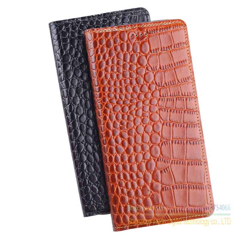 Genuine Leather Crocodile Grain Magnetic Stand Flip Cover For ASUS Zenfone Go TV ZB551KL (5.5) Luxury Mobile Phone Cases
