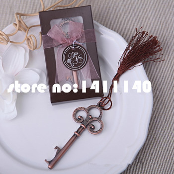 Vintage Skeleton Key Bottle Opener come with gifts box ribbon  wedding gifts favors for guests decorations  30pcs/lot