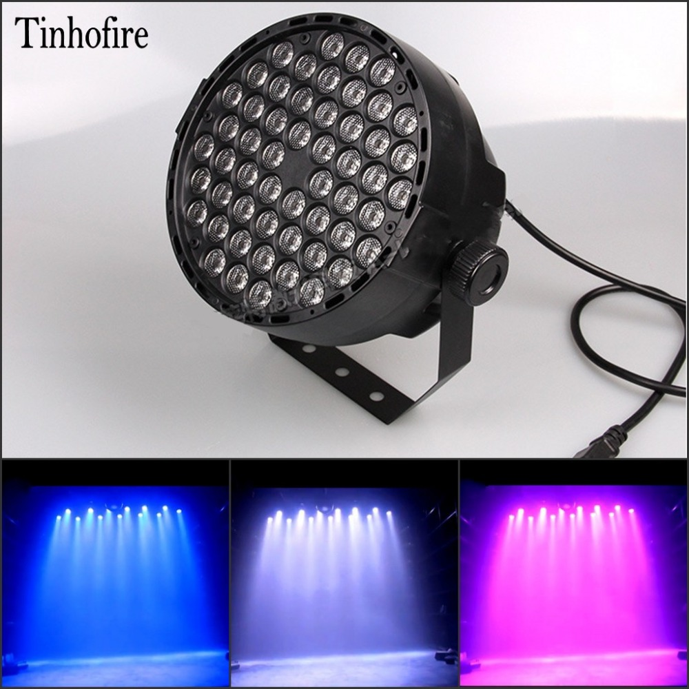 Tinhofire 60W 54  LED par light DMX-512 RGBW LED Stage Lamp PAR Lights Strobe Professional Party Disco KTV LED Stage Light 2pcs dj disco par led 54x3w stage light dmx strobe flat luces discoteca party lights laser rgbw luz de projector lumiere control