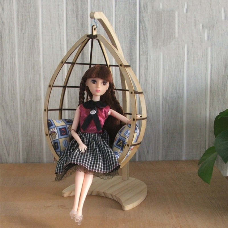 6 BJD Dollhouse miniature chair Single hanging chair swing yosd