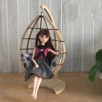 6 BJD Dollhouse miniature chair Single hanging chair swing yosd