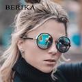 BERIKA quadro redondo retro óculos de sol moda personalidade óculos de sol UV400 óculos de sol das mulheres marca designer lentes de sol mujer