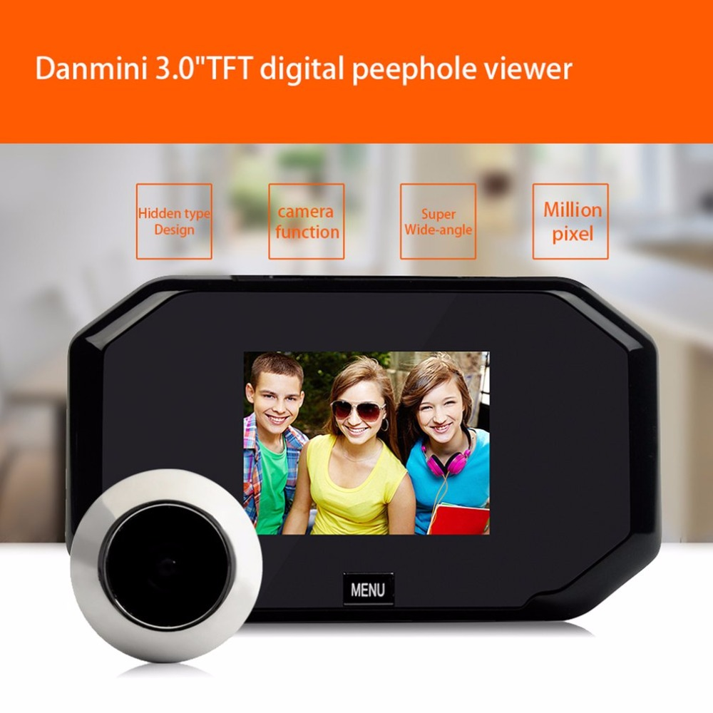Danmini 3.0 HD LCD Viewer Digital Peephole Viewer Camera 2.0MP Professional Color Screen Video-eye Video Recorder Night vision danmini 3 0 hd lcd viewer digital peephole viewer camera 2 0mp professional color screen video eye video recorder night vision