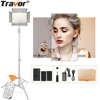 Travor 600 LED Photography Video Light Dimmable 5600K With Remote Control On Camera Hot Shoe for Canon Nikon DSLR Photo Lamp