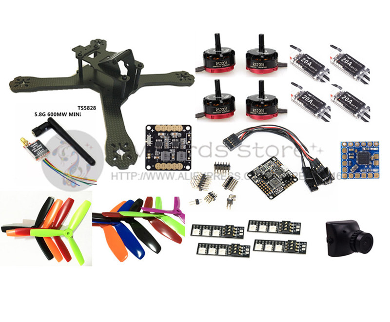 DIY FPV mini drone with camera QAV-X 214mm 3/4 frame kit EMAX RS2205 + littlebee BL20A ESC 2-4S + NAZE32 Rev6 10DOF + TS5828 diy fpv mini drone qav210 zmr210 race quadcopter full carbon frame kit naze32 emax 2204ii kv2300 motor bl12a esc run with 4s