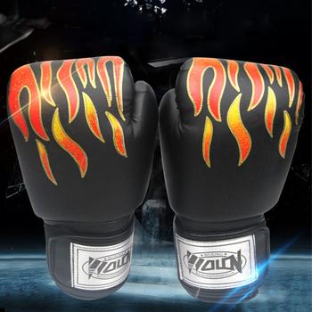 MMA Karate Guantes De Boxeo dzieci rękawice bokserskie treningowe boks Luva De Boxe sprzęt bokserski zestaw bokserski płomień tanie i dobre opinie Mężczyzna CN (pochodzenie) YS220 284g (71-91 kg)