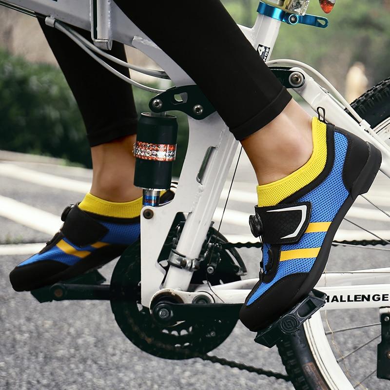 Homem bicicleta de estrada sapatos anti-deslizamento respirável