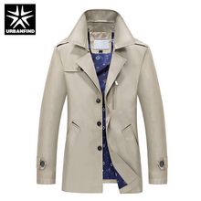 URBANFIND Trench Coat 2016 New Arrival Business & European Style Slim Fit High Quality Wind Coat Autumn Popular Men Trench