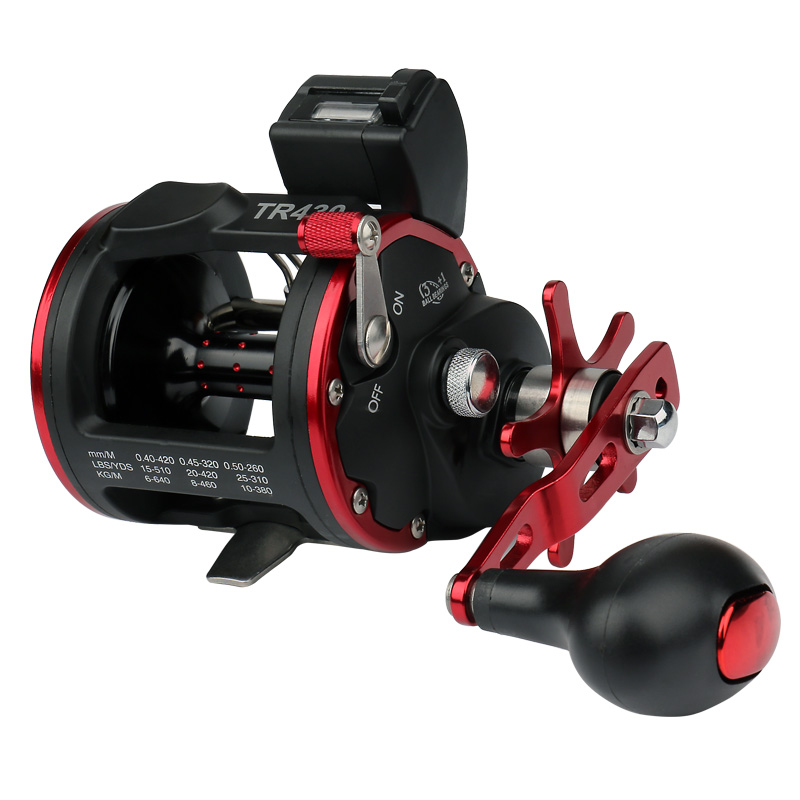 Bait Casting reel Sea fishing wheel fishing trolling drum wheel with digital counter Ratio 4.1:1 Bearing 3+1 BB rover drum saltwater fishing reel pesca 6 2 1 9 1bb baitcasting saltwater sea fishing reels bait casting surfcasting drum reel
