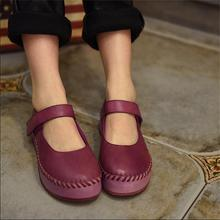 2016 spring shallow mouth women shoes genuine leather platform shoes sheepskin women flats casual shoes 809-26