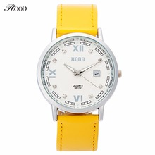 Leather Bracelet Watch Wristwatch Women Fashion Luxury Watches Quartz 6 Color Leather Strap Women Branded Watches