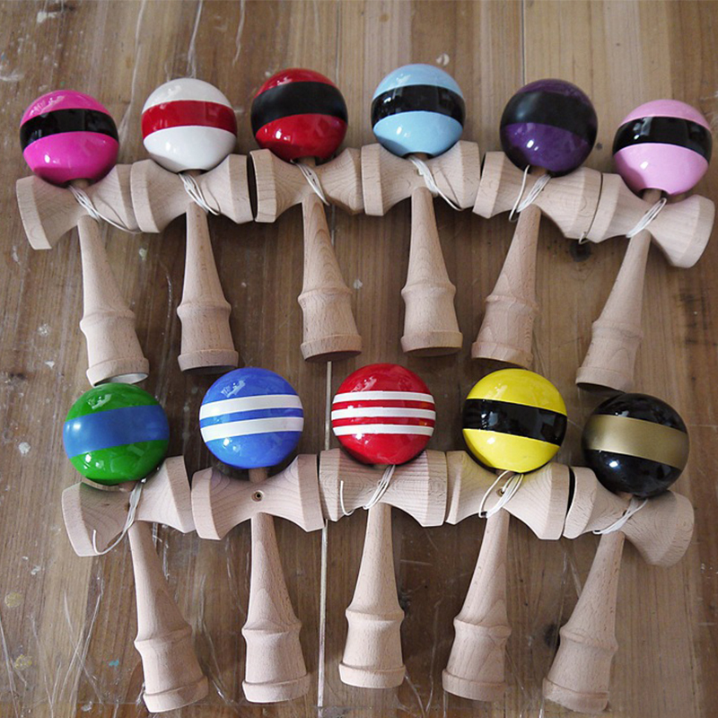 Outdoor Fun & Sports Amicable Attractive Kendama Ball 18cm Pu Paint Skillful Juggling Ball Toys Japanese Traditional Stress Release Wood Toys Random Color