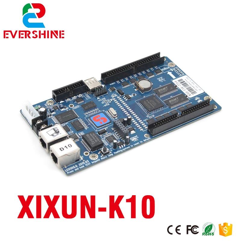 Xixun cascading controller K10 led display screen sending card 640x480 pixels video control card xixun k10 asynchronous sending card indoor and outdoor rgb led screen module control range 640x480 pixels