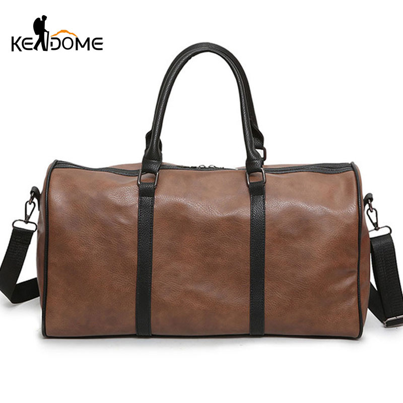 Gym Bag Stylish: PU Leather Gym Bags Large Capacity Travel Bag Stylish