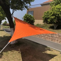 Mayitr Sun Shade Sail Waterproof Cloth Triangle Shelter Outdoor Courtyard Balcony Carport Awnings 3m x 3m x3m
