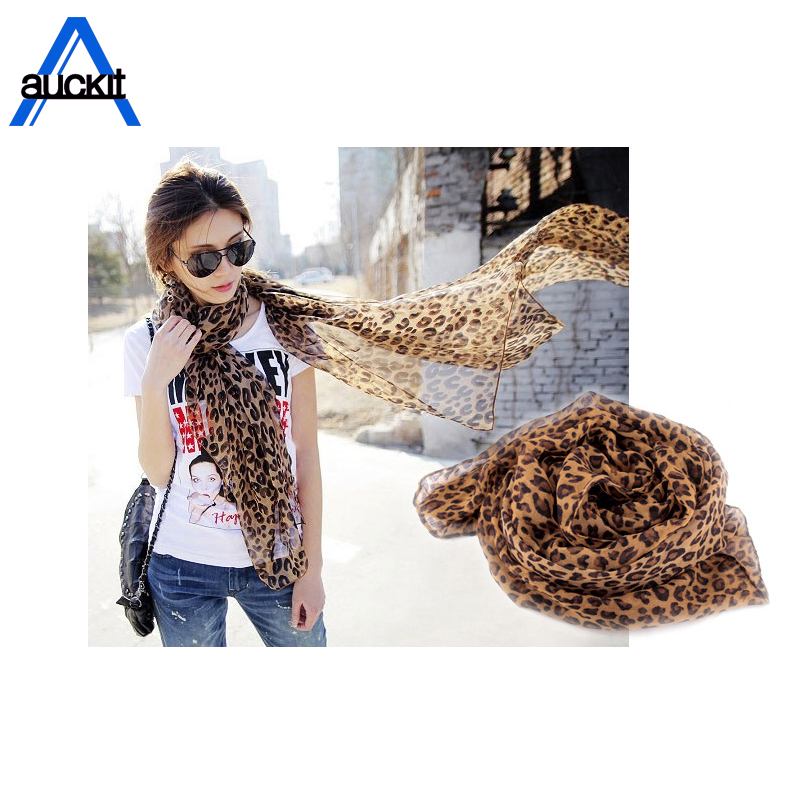 Coffee Black Leopard Print Square Scarves Printed 2018 New Design Crepe Satin Silk Winter Ladies Scarves Wraps WE-30