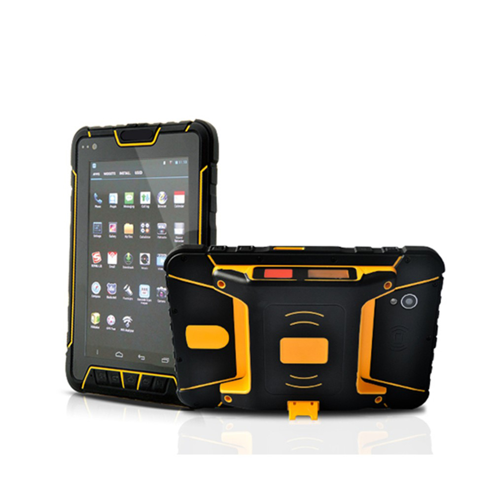 À prova d' água Tablet PC Android Terminal 4G Handheld GPS SIM 4 Metros Customizáveis UHF de Longo Alcance do Scanner de código de Barras RFID Tag leitor