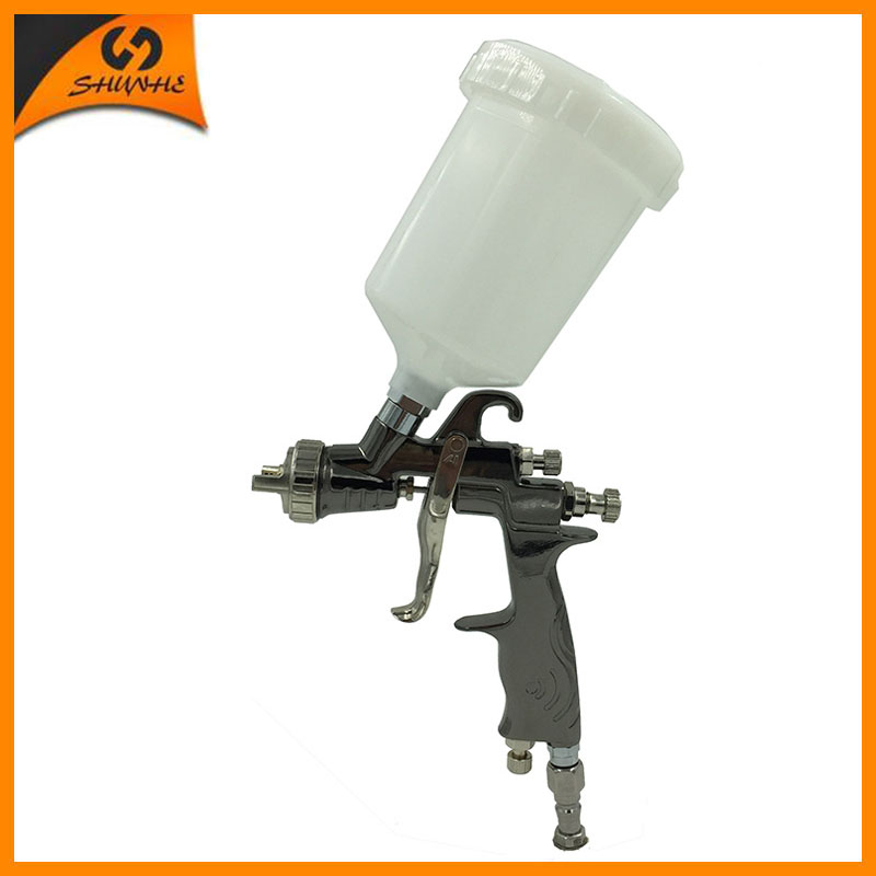 цена на SAT0083 high pressure car paint spray pneumatic automotive paint air chrome mirror spray gun paint