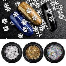 Floco De Neve De Prata Da Arte do prego Design de Unhas Manicure Mix Glitter Lantejoula Pot Nail Art #40 Hex-36