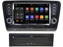 Android 7.1 de dvd del coche para SKODA OCTAVIA 2013 2014 2015 gps radio bluetooth wifi 3G DVR espejo enlace player gratuito mapa de nuevo cámara