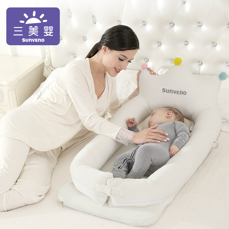 2019 New Portable Baby With Bed Anti-pressure Multifunctional Infant Newborn Bionic Mattress Breathable Skin Baby Travel Bed