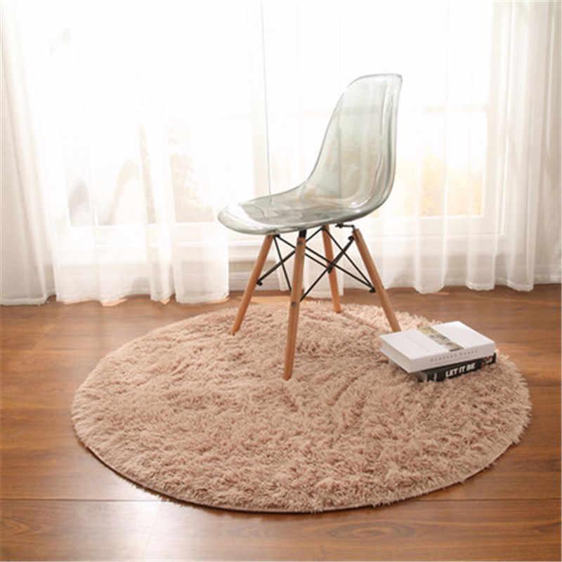 2019 nowy yoga mata wiszący kosz krzesło okrągłe dywanik podłogowy jedwabiu do salonu dywan do sypialni komputer koc zielony średnica 200 cm
