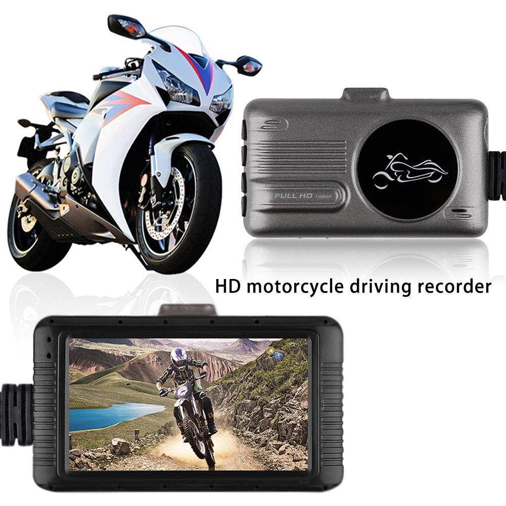 3.0 pouces 1080 P HD moto enregistreur de conduite Automobile enregistreur de données moteur Dash Cam grand angle lentille avant arrière moniteur d'enregistrement