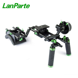 Lanparte 15mm Double Handle Grip Camera Rig with Quick Release Baseplate