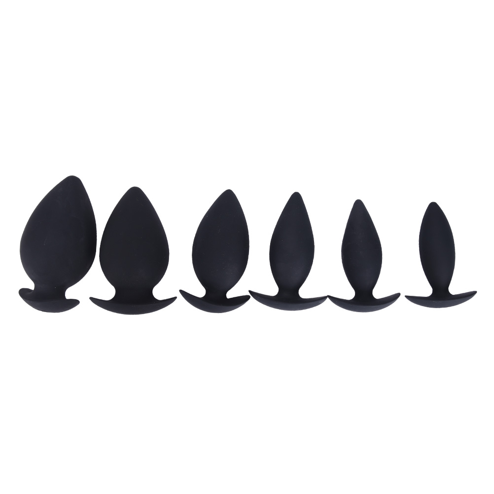 6 Sizes Silicone Anal Plug Butt Plug Anal Dilator Erotic Toys Adult Sex Toys For Men And Women Gay Anal Massage Vibrating tabuy stainless steel anal hook metal butt plug with ball anal plug anal dilator gay sex toys for men and women 30 250 mm
