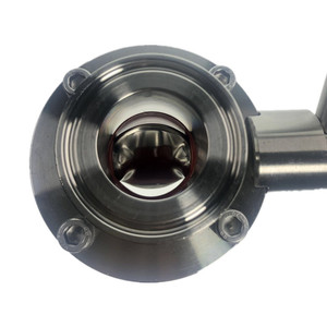 Image 2 - DN25 DN50 Tri Clamp Sanitary Stainless Steel SS304 Butterfly Valve Silicon Seal Pull Handle Home Brew Valve
