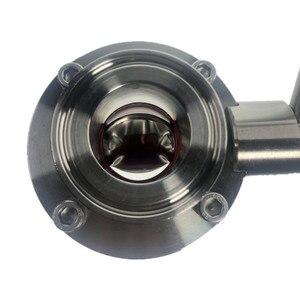 Image 2 - Válvula de mariposa de acero inoxidable SS304 con tres abrazaderas, DN25 DN50, sello de silicona, Asa de extracción, válvula de fermentación para el hogar