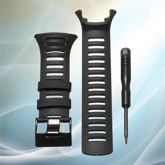 HOT!!!Smart Silicone Watchband Rubber Strap Wristband Bracelet 25mm For SUUNTO AMBIT3 Ambit 2 Ambit 1 Wristwatches Belt Tools