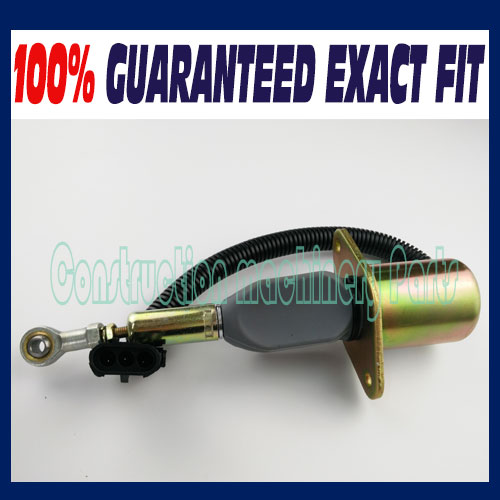 Fast free shipping, Fuel Shut off Solenoid For Hyundai R300For Komatsu PC360-7For  CUMMINS 6BT 6CT 3930233