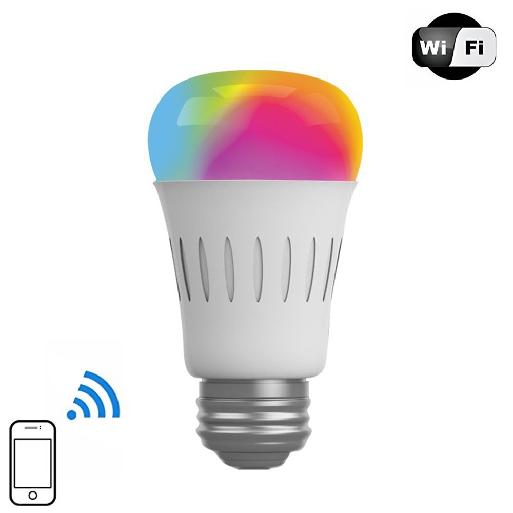 Hot 6W Smart RGBW LED bulb AC 100-240V Wifi Wireless APP Control led light lamp Dimmable bulbs E27 for IOS Android Free Shipping 22 led wireless wifi app remote control lamp bulb dimmable e27 7w rgb smart light led lamp bulb ac 85 265v