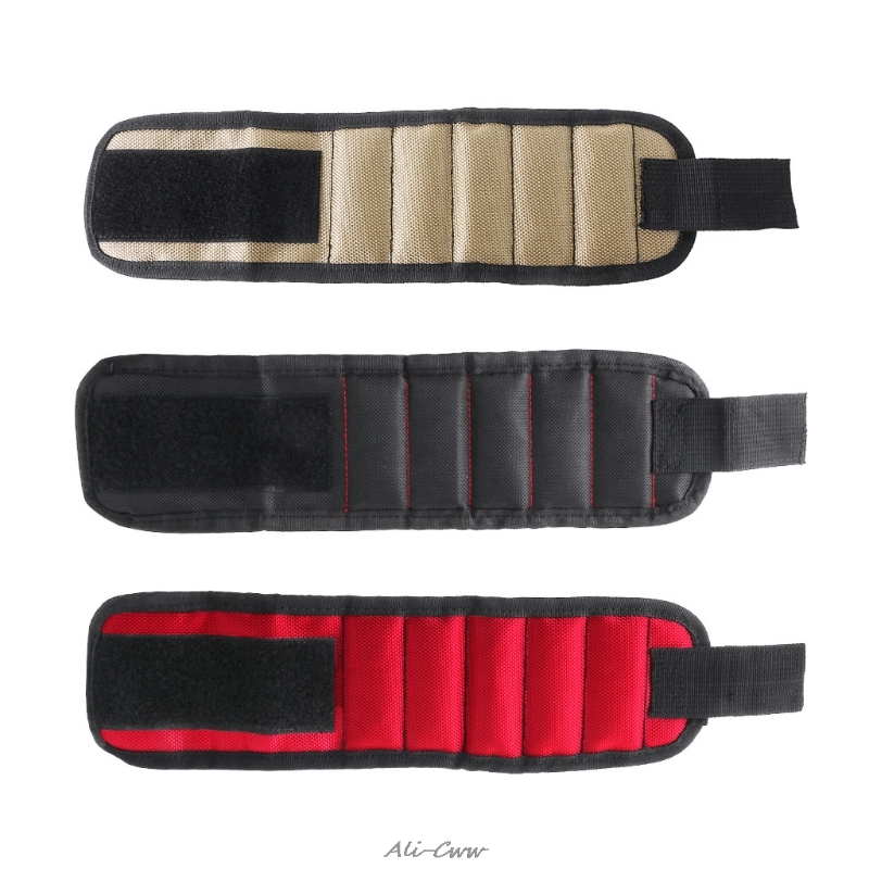 Magnetic Wristband Tool Bag Holding Screws Nails Drill Bits Magnet Bracelet Band
