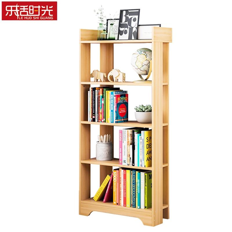 Simple Bookcase Wooden Creative Minimalist Living Room Standing Storage Cubes Student Bookshelf Hallway Shelf Organizer for Home все цены