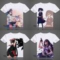 Mina de Tatsumi Akame Ga Matar Cosplay Impresso Camisetas de Manga Curta Tops Casuais Tees Akame Tshirt Verão