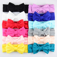 SIYUAN 24pcs/lot Kids 100% Cotton Headbands With 11CM Bows For Birth Girls Top