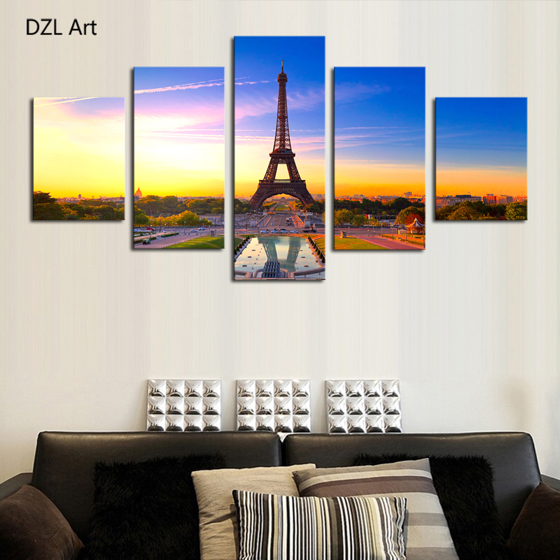 5 Piece No Frame Modern Hd Famous Tower Home Wall Decor Canvas Picture Art Print Painting On Artworks For In Calligraphy From