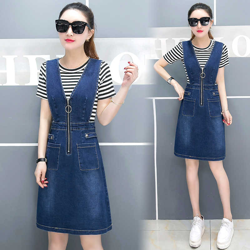 34a0ac67f59 ... Для женщин без рукавов платье из джинсовой ткани женские Летний сарафан  с Новинка  футболки Глубокий ...