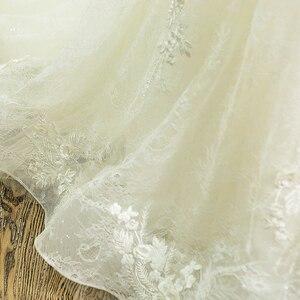 Image 5 - SL 66 תמונה אמיתית 100% בציר יוקרה תחרה כדור שמלת כלה שמלות כלה עם שרוולי aliexpress בתוספת גלימת דה bal noiva vestido
