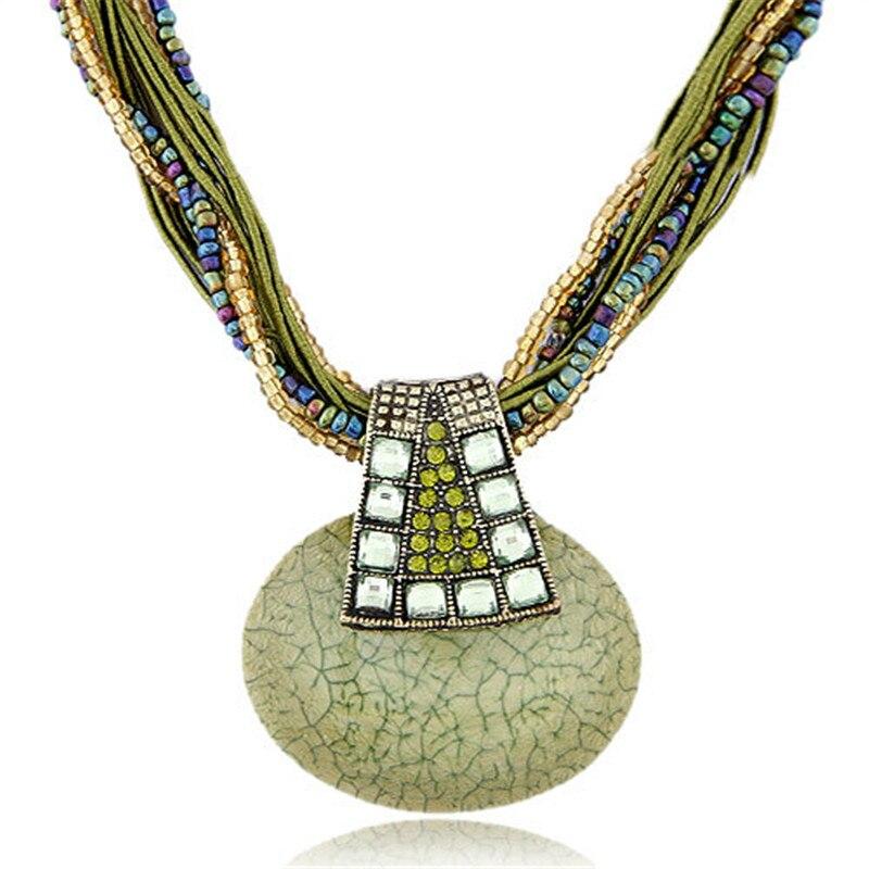 b0e04998136d Click here to Buy Now!! Лимон значение ожерелье заявление колье Винтаж  Талисманы горный хрусталь кулон Crystal Bohemia Цепочки ...