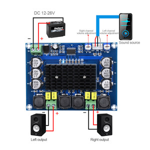 Image 3 - AIYIMA TPA3116 Dual channel Stereo High Power Digital Audio Power Amplifier Board TPA3116D2 Amplifiers 2*120W Amplificador DIY
